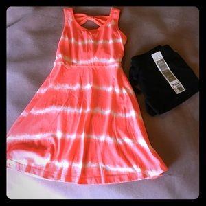 Other - Girl's sz 4/5 bundle-tiedye dress GUC & NWT shorts